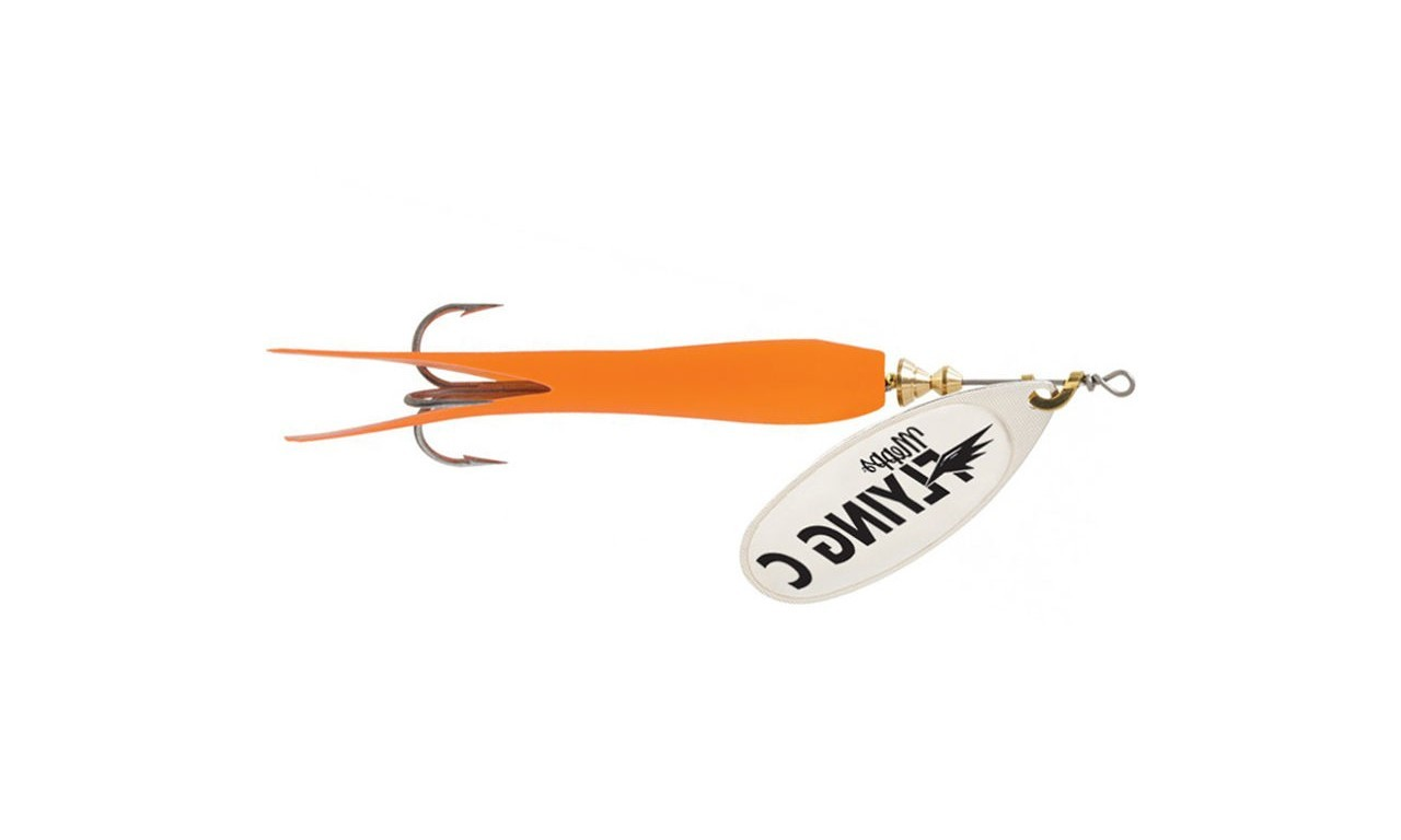 Mepps AGLIA FLYING stříbro/oranžová 25g