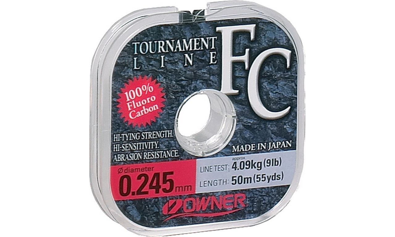 OWNER TOURNAMENT FLUOROCARBON 0,16mm 50m